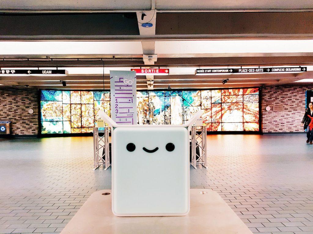 Totemi la signalétique qui diffuse de l'audio dans le metro de Montréal