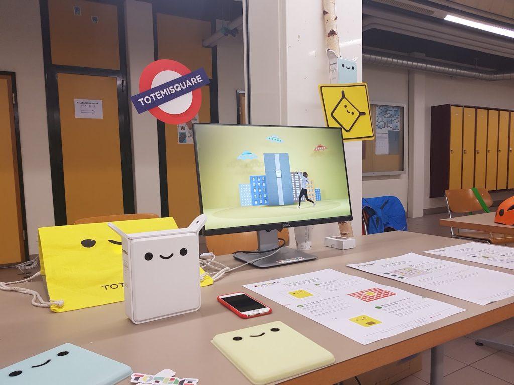 Stand Totemi au Smart city days 2017 à Genève - Suisse. La signalétique connectée pour la ville de demain